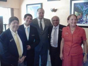 Jorge Chacon, Cesar G. Gomez, Jay Almeida, Hasmukh and Nina Ghandhi